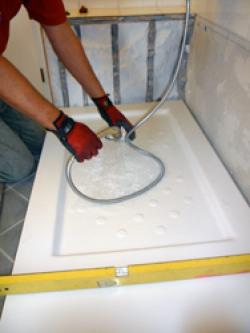 Schritt 2: Einbau der Duschtasse